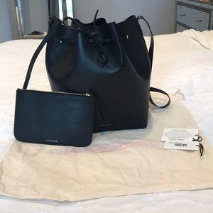 Mansur Gavriel large black bucket bag